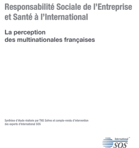 Etude International SOS - Responsabilité Sociale de l'Entreprise et Santé à l'International - 2008