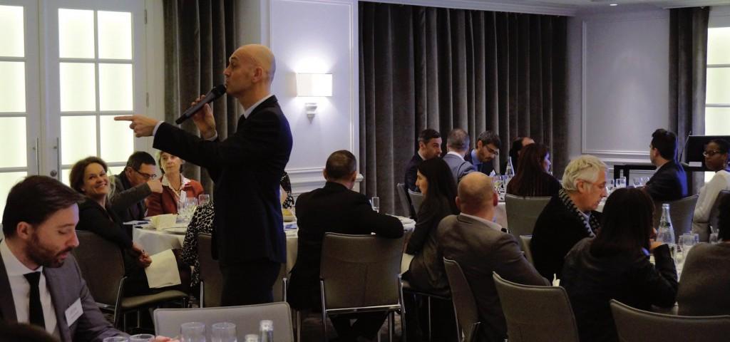 François-Xavier Izenic au diner débat de l' AFTM