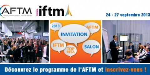 L'AFTM vous invite à l'IFTM Top Résa du 24 au 27 septembre 2013 !