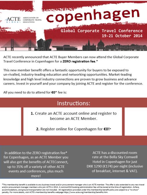 Participez gratuitement à la Conférence ACTE Copenhague grâce à l'AFTM !