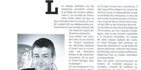 """TendanceNomad - février 2014 N°1 - """"Le Travel Manager, maitre d'oeuvre caméléon du mobility management"""" par Claude Lelièvre"""