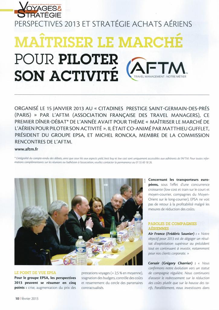 Voyages & Stratégie - Mars 2013 - Maîtriser le marché pour mieux piloter son activité