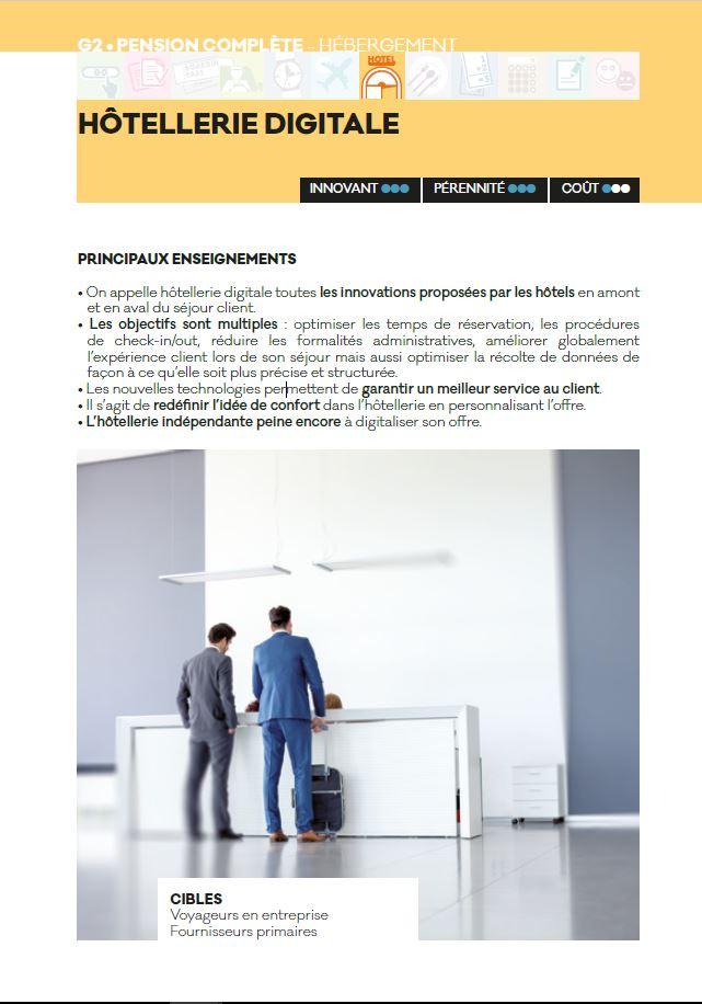 hotellerie digitale - Livre blanc 2016 - AFTM