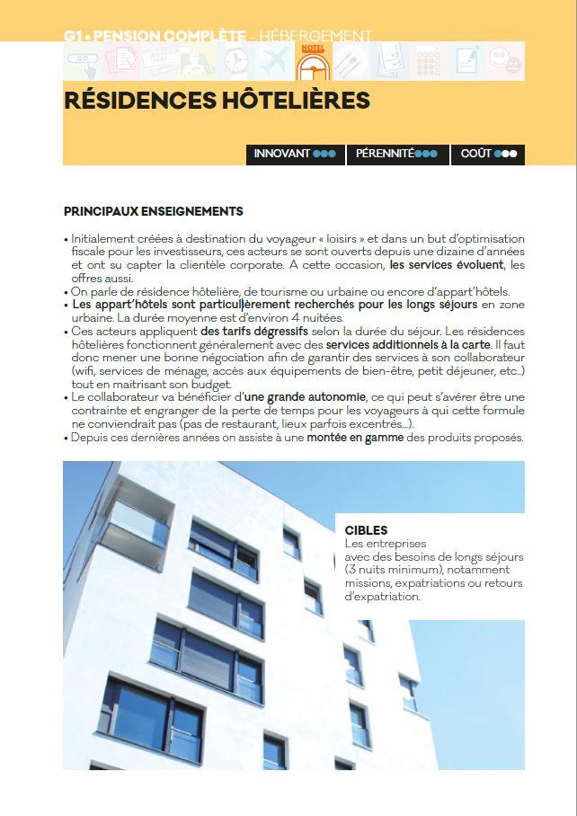 residences hotelieres - Livre blanc 2016 - AFTM